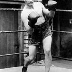 Picture of boxer benny leonard to illustrate sentence that a jury trial is a courtroom brawl