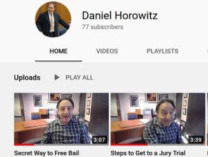 Link to Dan Horowitz youtube channel shows pictures of horowitz speaking on clips that are you tube videos