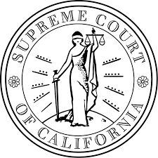 Link to a supreme court case with an image of the supreme court of california and lady liberty blindfolded links on the stanford university website argued by doug macmaster